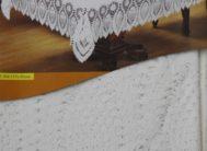Скатерть 10103   винил. мод.ZT-304 белая (137*182см)
