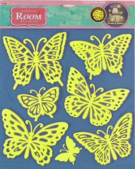 Стикер 3803 Бабочки светящиеся объемные