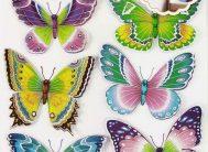 Стикер 5301 Бабочки разноцветные