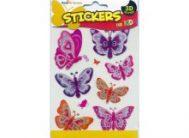 Стикер 3702 Бабочки разноцветные Мини