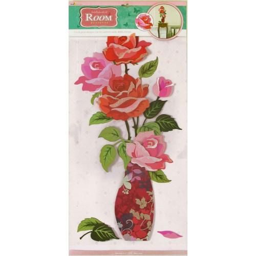 Стикер 5103/1 Букет роз (объемные бутоны)