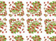 Клеенка без основы (Декор) Клубника роз.цветы (00-03-04) 1.20х50