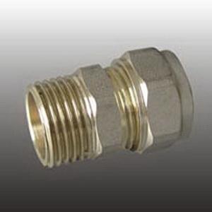 Соединитель прямой (патрубок) ц/ш латунь F306.2004 (FR 2002-S20*1/2М) (уп.10-20шт.) ФРАП