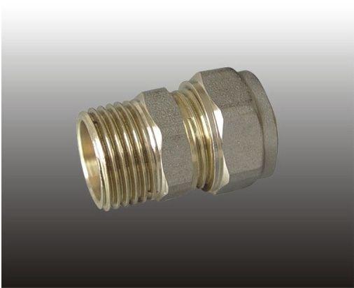Соединитель прямой (патрубок) ц/ш латунь F306.3206 (FR 3202-S32*1/2М) (уп.20шт.) ФРАП