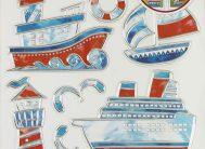 Стикер 5001 Кораблики (витражи)