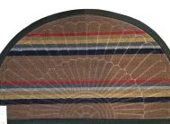 Коврик ворсовой Мультиколор 45*75 полукруг корич.
