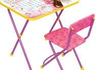 """Комплект КП2/17 """"Познайка""""(стол+стул мягк.моющ)дет.скл.Мал.принцесса.сирен . Ника"""