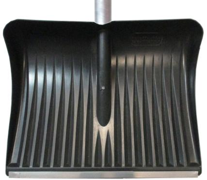 Лопата для снега плас. 510*390 с метал.планкой c алюм.чер №11