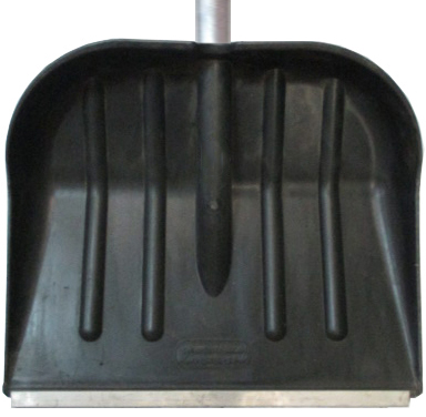 Лопата для снега плас. 470*390 с метал.планкой c алюм.чер №12