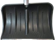 Лопата для снега плас. 540*370 с метал.планкой с алюм.чер №13
