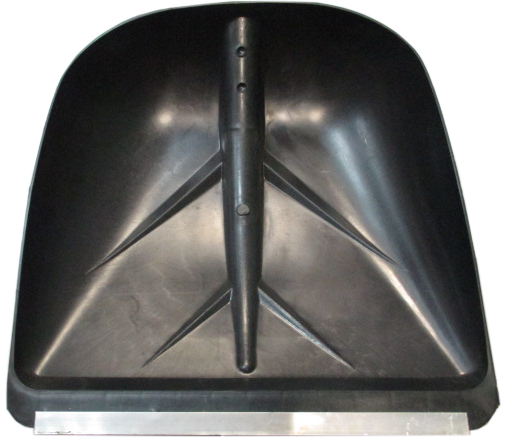 Лопата для снега плас. 400*380 с метал.планкой б/чер №3