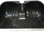 Лопата для снега плас. 450*290 с метал.планкой б/чер №5
