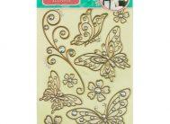 Стикер 5801 Бабочки коричн.(металик)