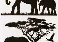 Стикер 9502 Слоны