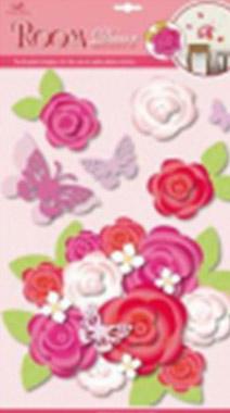 Стикер 2213 Букет весенний (объемный)