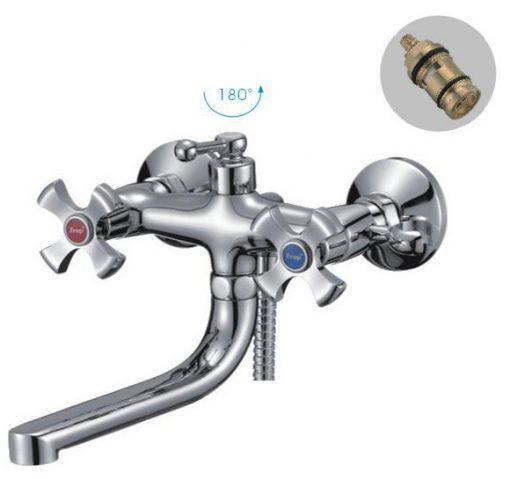 F-3293 Смеситель для ванны хром Фрап