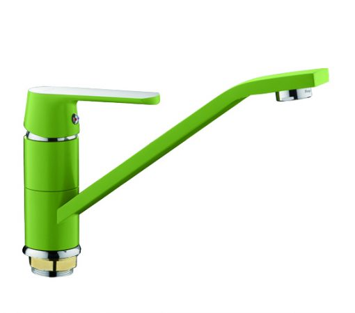 F-4933 Смеситель д/кухни зеленый/хром Фрап