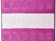 Набор ковриков Залел (1предмет) 60*100см вишн./роз.