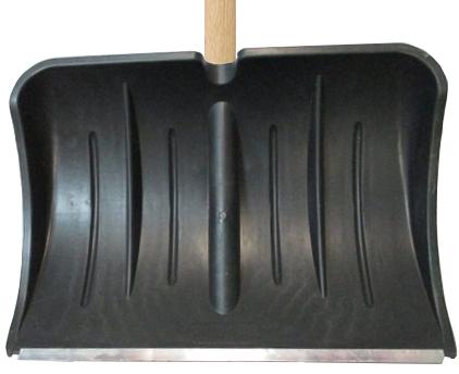 Лопата для снега плас. 540*370 с метал.планкой с дер.чер №13*