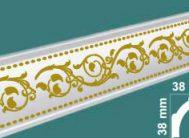Плинтус потолочный FK-4118 золото(уп.100шт)
