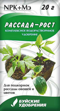 """Удобрение """"Рассада-Рост"""" 20г (60 шт.)"""