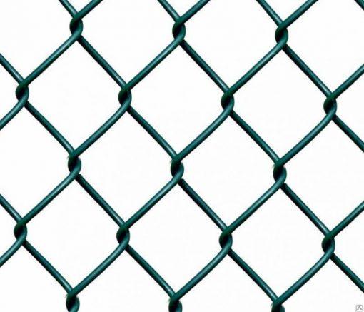 Сетка плетеная (рабица) с полимерным покрытием (ПНД) 1,0м*10  55*55*2,5