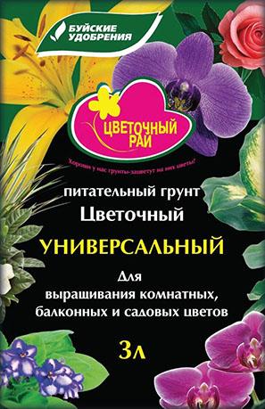 """""""Цветочный рай"""" универсальный 3л.(6 пакетов)"""