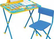 Комплект КП2/11 (стол+стул мягк.моющ) Первоклашка осень Ника